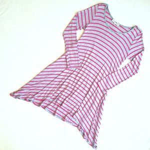 Altar'd State Long Sleeve Asymmetrical Dress